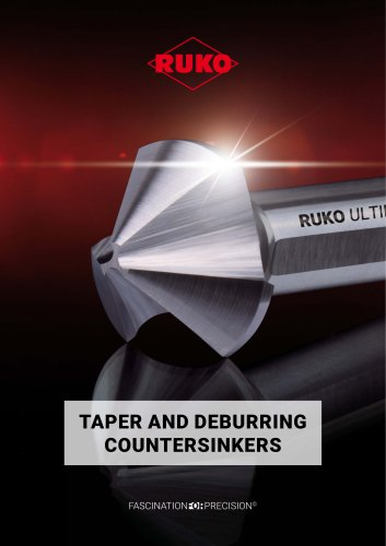 Taper and deburring countersinkers
