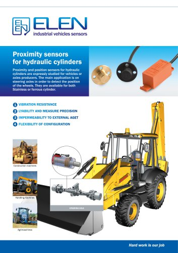 Proximity sensors for hydraulic cylinders