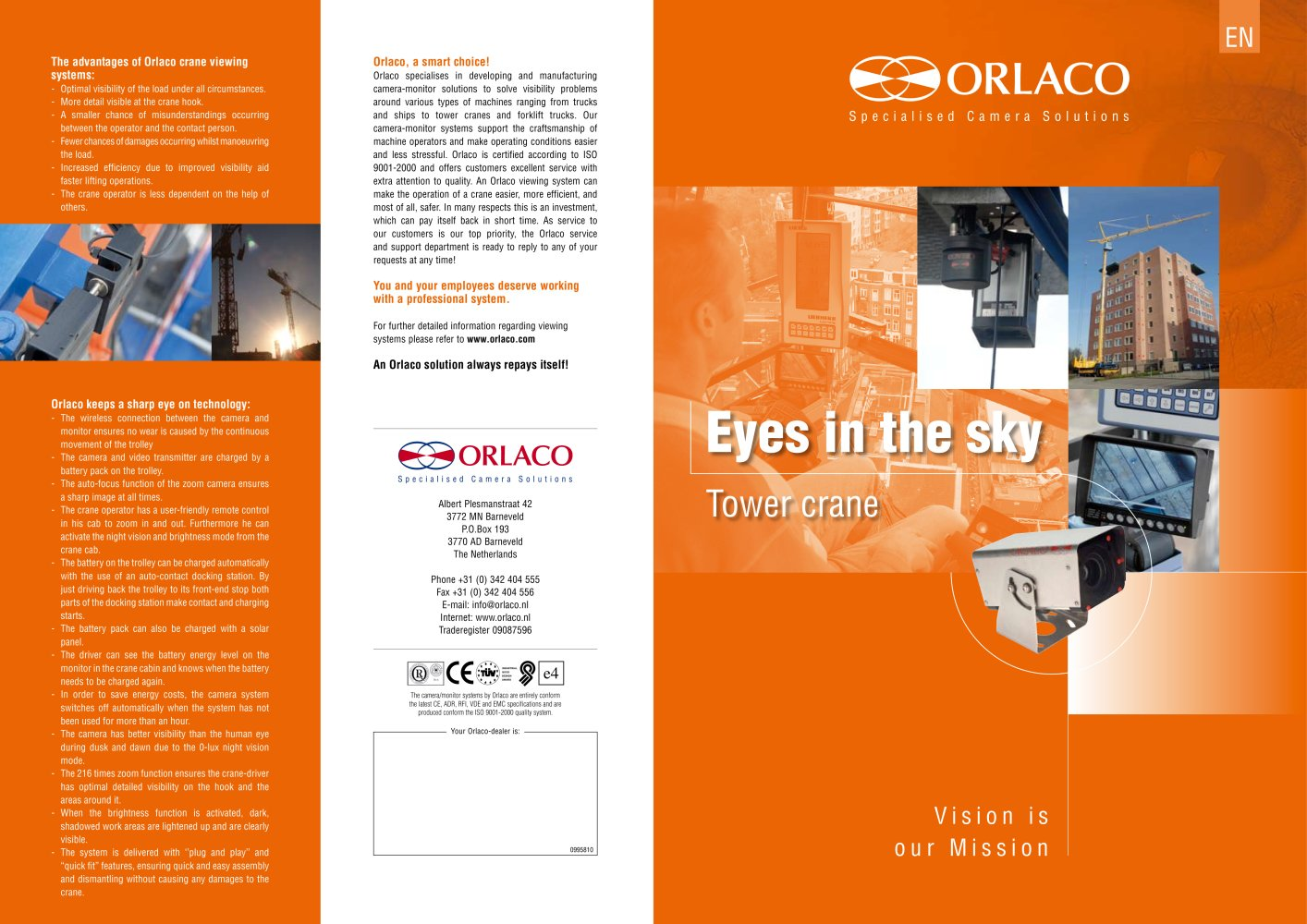 Orlaco Camera Wiring Diagram 28 Images Paramount Caravan Eyes Sky Tower Crane 198317 1b All Catalogues And Technical Brochures Pdf Catalogue