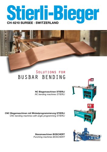 Solutions for Busbar Bending