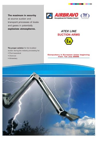 ATEX quadruple - pantograph suction arms