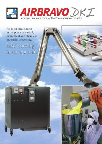 Cartridge dust collectors for the Pharmaceutical industry