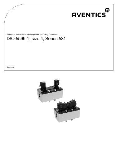 Directional valves - Electrically operated, according to StandardISO 5599-1, size 4, series 581