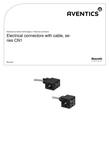Electrical connectors with cable, series CN1