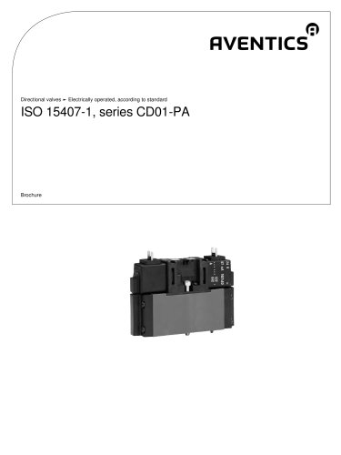 ISO 15407-1, 26 mm, series CD01-PA electrically operated