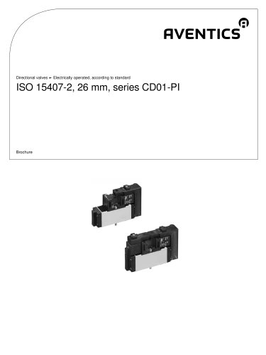ISO 15407-2, 26 mm, series CD01-PI electrically operated