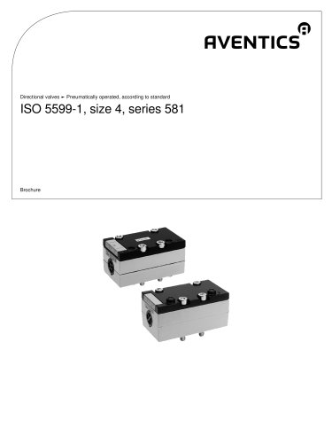 ISO 5599-1, size 4, series 581 pneumatically operated
