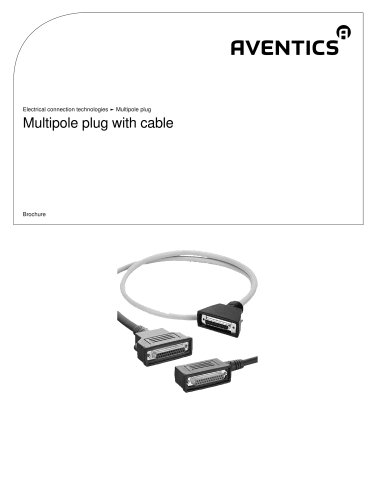 Multipole plug with cable