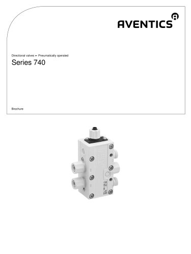 Series 740 pneumatically operated