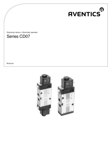 Series CD07 electrically operated