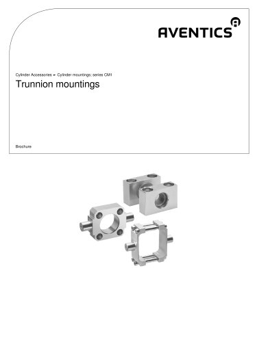 Trunnion mountings
