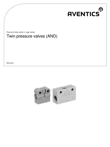 Twin pressure valves AND