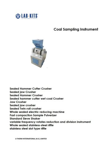 Coal Sampling Instrument
