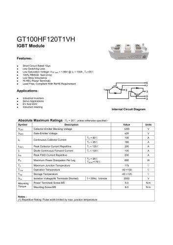 GT100HF120T1VH IGBT module