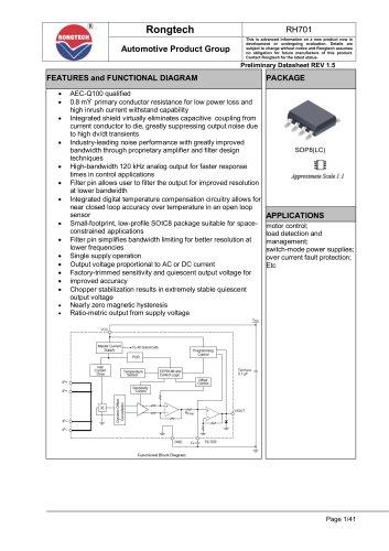 RH701 current IC senser