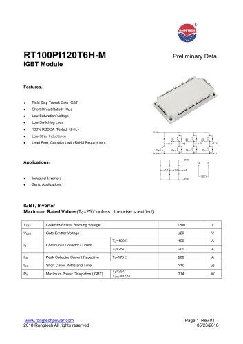 RT100PI120T6H-M IGBT module