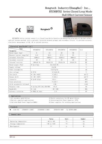 RTC050DT52 current sensor