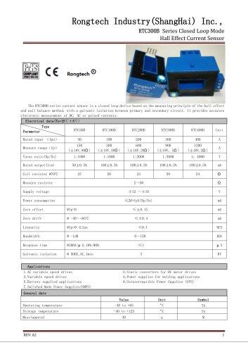 RTC300B close loop current sensor