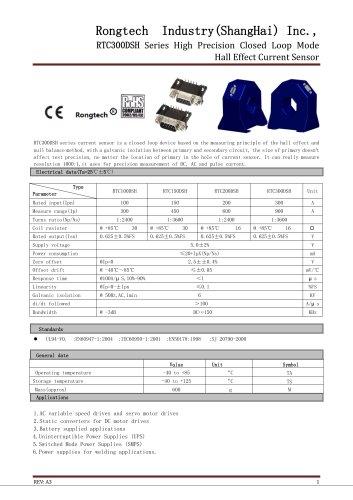 RTC300DSH digital current sensor