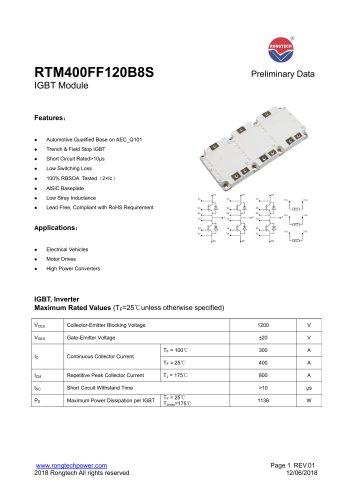 RTM400FF120B8S IGBT Module