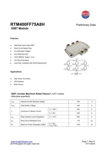 RTM400FF75A8H IGBT Module