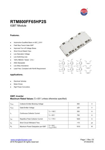 RTM800FF65HP2S IGBT module