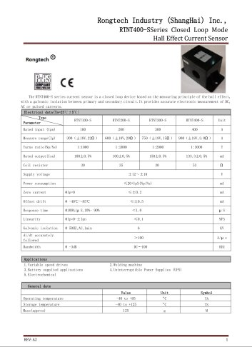 RTNT400-S current sensor
