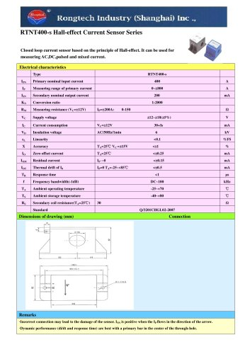 RTNT400-S current transducer