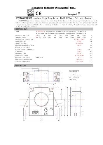 RTO1000DHR420 high precision current sensor