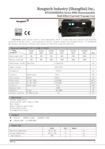 RTO2000KDRA RMS dismountable current sensor