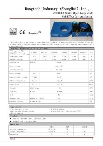 RTO300LB open loop current sensor