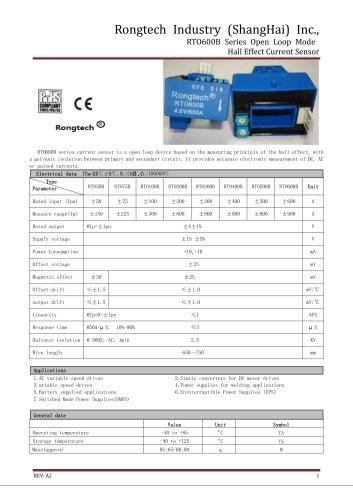 RTO600B open loop current sensor