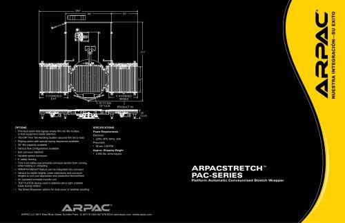 ARPACSTRETCH™ PAC-SERIES Platform Automatic Conveyorized Stretch Wrapper