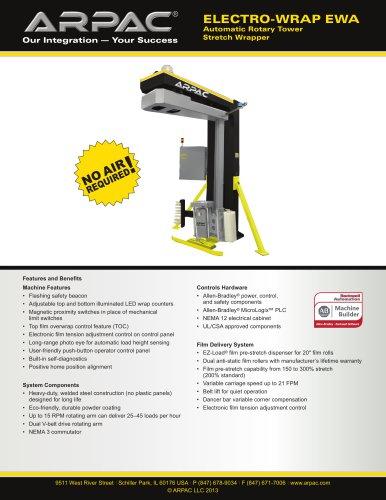 Electro-Wrap EWA Automatic Rotary Tower Stretch Wrapper