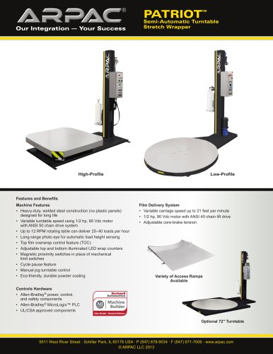 Patriot Semi-Automatic Turntable Stretch Wrapper