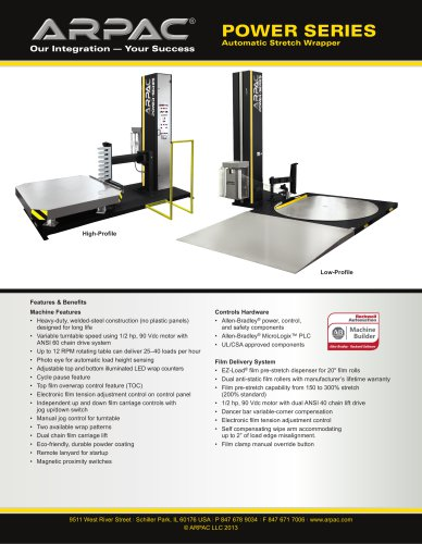 Power Series Automatic Stretch Wrapper