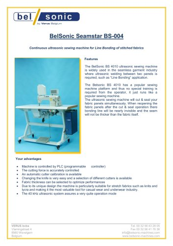BelSonic Seamstar BS-004