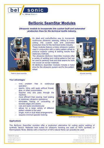 BelSonic SeamStar Modules