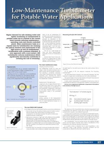 Low-Maintenance Turbidimeter for Potable Water Applications