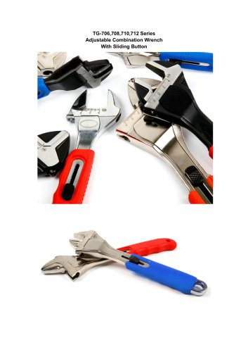 Adjustable Combination Wrench With Sliding Button