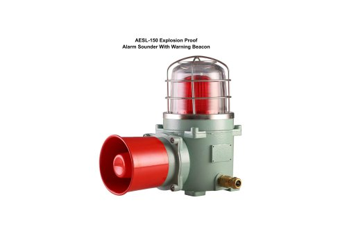 Explosion Proof Alarm Sounder With Warning Beacon