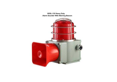 Heavy Duty Alarm Sounder With Warning Beacon