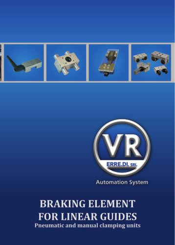 Braking element for linear guides