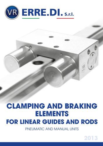 Clamping and braking elements for linear guides and rods