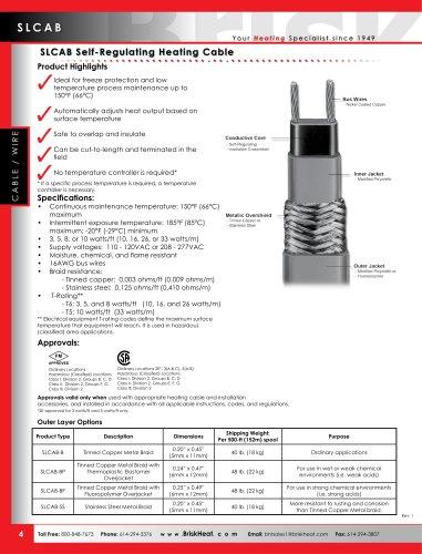 SLCAB Self-Regulating Heating Cable
