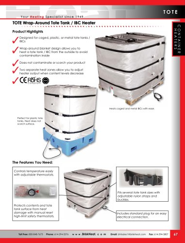 TOTE Wrap-Around Tote Tank / IBC Heater