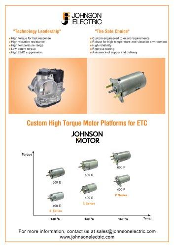 High Torque ETC Motor Platforms