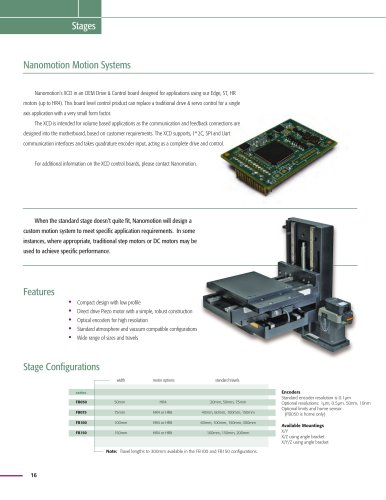 Nanomotion Motion Systems