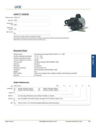 Standard Linear Stepper Motors