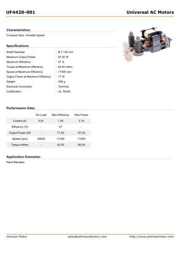Universal AC Motors